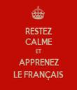RESTEZ CALME ET APPRENEZ LE FRANÇAIS - Personalised Tea Towel: Premium