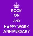 ROCK ON AND HAPPY WORK ANNIVERSARY - Personalised Tea Towel: Premium