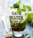 SAVE WATER AND DRINK MOJITO - Personalised Tea Towel: Premium