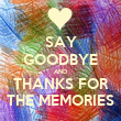 SAY GOODBYE AND THANKS FOR THE MEMORIES - Personalised Tea Towel: Premium