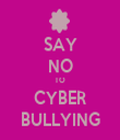 SAY NO TO CYBER BULLYING - Personalised Tea Towel: Premium