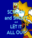 SCREAM and SHOUT and LET IT ALL OUT - Personalised Tea Towel: Premium