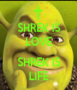 SHREK IS LOVE  SHREK IS LIFE - Personalised Tea Towel: Premium
