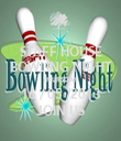 STAFF HOUSE BOWLING NIGHT THURSDAY 16 / 05 /2013 JOIN US - Personalised Tea Towel: Premium
