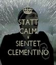 STATT CALM E SIENTET CLEMENTINO - Personalised Tea Towel: Premium
