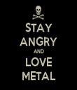 STAY ANGRY AND LOVE METAL - Personalised Tea Towel: Premium