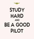 STUDY HARD AND BE A GOOD PILOT - Personalised Tea Towel: Premium