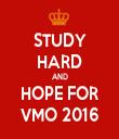 STUDY HARD AND HOPE FOR VMO 2016 - Personalised Tea Towel: Premium