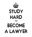 STUDY HARD TO BECOME A LAWYER - Personalised Tea Towel: Premium