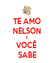 TE AMO NELSON E VOCÊ  SABE - Personalised Tea Towel: Premium