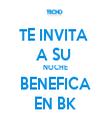 TE INVITA  A SU  NOCHE BENEFICA EN BK - Personalised Tea Towel: Premium