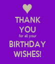 THANK YOU for all your BIRTHDAY WISHES! - Personalised Tea Towel: Premium