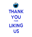 THANK YOU FOR LIKING US - Personalised Tea Towel: Premium