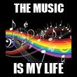 THE MUSIC IS MY LIFE - Personalised Tea Towel: Premium