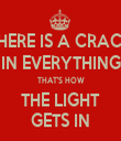 THERE IS A CRACK IN EVERYTHING THAT'S HOW THE LIGHT GETS IN - Personalised Tea Towel: Premium