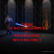 THERE IS NO IGNORANCE THERE IS KNOWLEDGE WITH INSTINCT - Personalised Tea Towel: Premium
