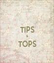 TIPS & TOPS  - Personalised Tea Towel: Premium