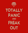 TOTALLY PANIC AND FREAK OUT - Personalised Tea Towel: Premium