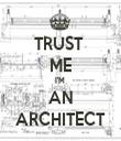 TRUST  ME I'M  AN ARCHITECT - Personalised Tea Towel: Premium