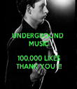 UNDERGROUND  MUSIC  100,000 LIKES THANK YOU !!! - Personalised Tea Towel: Premium
