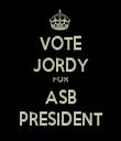 VOTE JORDY FOR ASB PRESIDENT - Personalised Tea Towel: Premium
