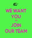 WE WANT YOU TO JOIN OUR TEAM - Personalised Tea Towel: Premium