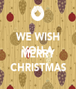WE WISH YOU A  MERRY CHRISTMAS - Personalised Tea Towel: Premium