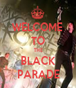 WELCOME  TO THE BLACK PARADE - Personalised Tea Towel: Premium