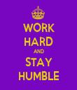 WORK HARD AND STAY HUMBLE - Personalised Tea Towel: Premium