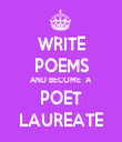 WRITE POEMS AND BECOME  A  POET LAUREATE - Personalised Tea Towel: Premium