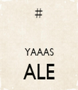 YAAAS ALE  - Personalised Tea Towel: Premium