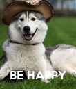 BE HAPPY - Personalised Poster large