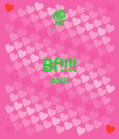 Bf!!!! AND   - Personalised Poster large