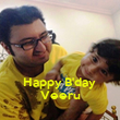 Happy B'day  Veeru - Personalised Large Wall Decal