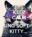 KEEP     CALM     AND SING SOFT    KITTY... - Personalised Poster large