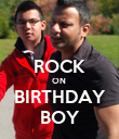 ROCK ON  BIRTHDAY BOY - Personalised Poster large