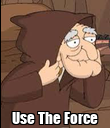 Use The Force - Personalised Poster large