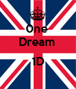 0ne  Dream   1D  - Personalised Poster large