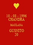 10 - 08 - 1996 CHANDRA MAULANA GUSNITO 20 - Personalised Poster large