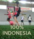 100% INDONESIA - Personalised Poster large