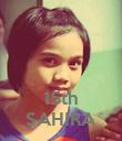 15th SAHIRA - Personalised Poster large