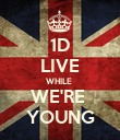 1D LIVE WHILE  WE'RE  YOUNG - Personalised Poster large