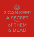 2 CAN KEEP A SECRET if one of THEM IS DEAD - Personalised Poster large