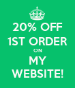 20% OFF 1ST ORDER ON MY WEBSITE! - Personalised Poster large