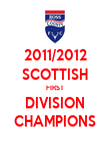2011/2012 SCOTTISH FIRST DIVISION CHAMPIONS - Personalised Poster large