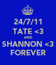 24/7/11 TATE <3 AND SHANNON <3 FOREVER - Personalised Poster large