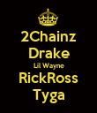 2Chainz Drake Lil Wayne RickRoss Tyga - Personalised Large Wall Decal