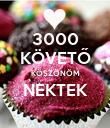 3000 KÖVETŐ KÖSZÖNÖM NEKTEK  - Personalised Poster small