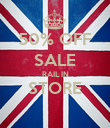 50% OFF SALE RAIL IN STORE  - Personalised Poster large