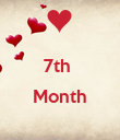 7th   Month  - Personalised Poster large